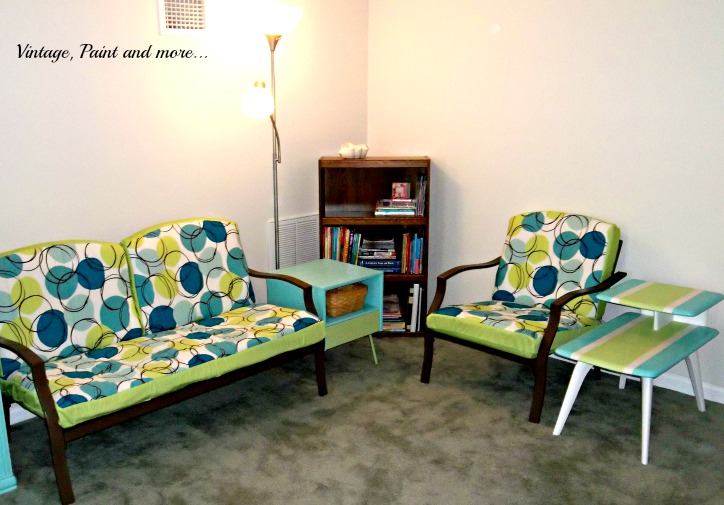 Vintage, Paint and more... retro teen guest room, thrifted and painted furniture for a retro look