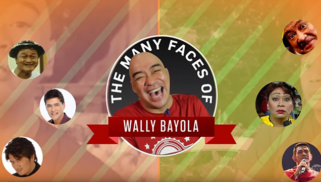 The many faces of Wally Bayola.