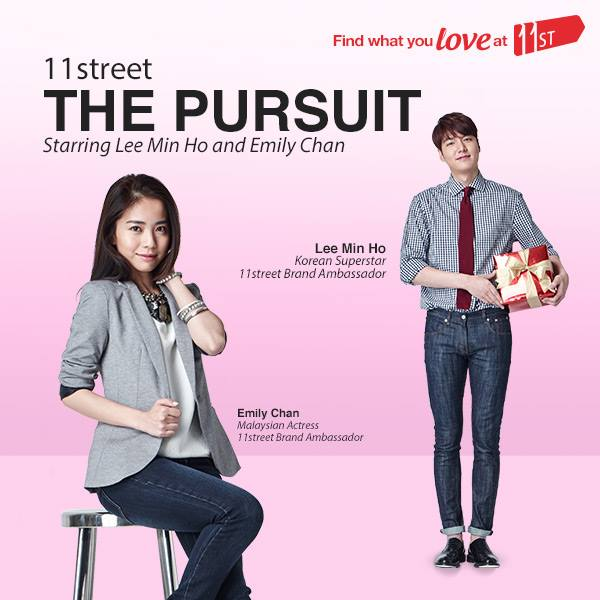 11street, Lee Min Ho, iklan, CF, Malaysia, Korea, Emily Chan, The Pursuit