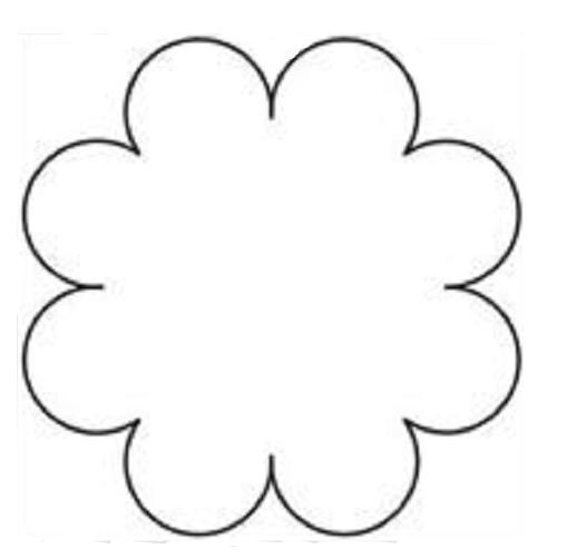 Moldes de flores grandes - Imagui
