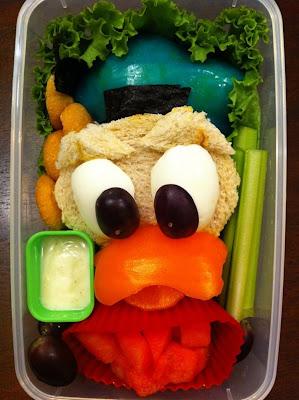 طعام الغداء على هيئة شخصيات كرتونية-منتهى