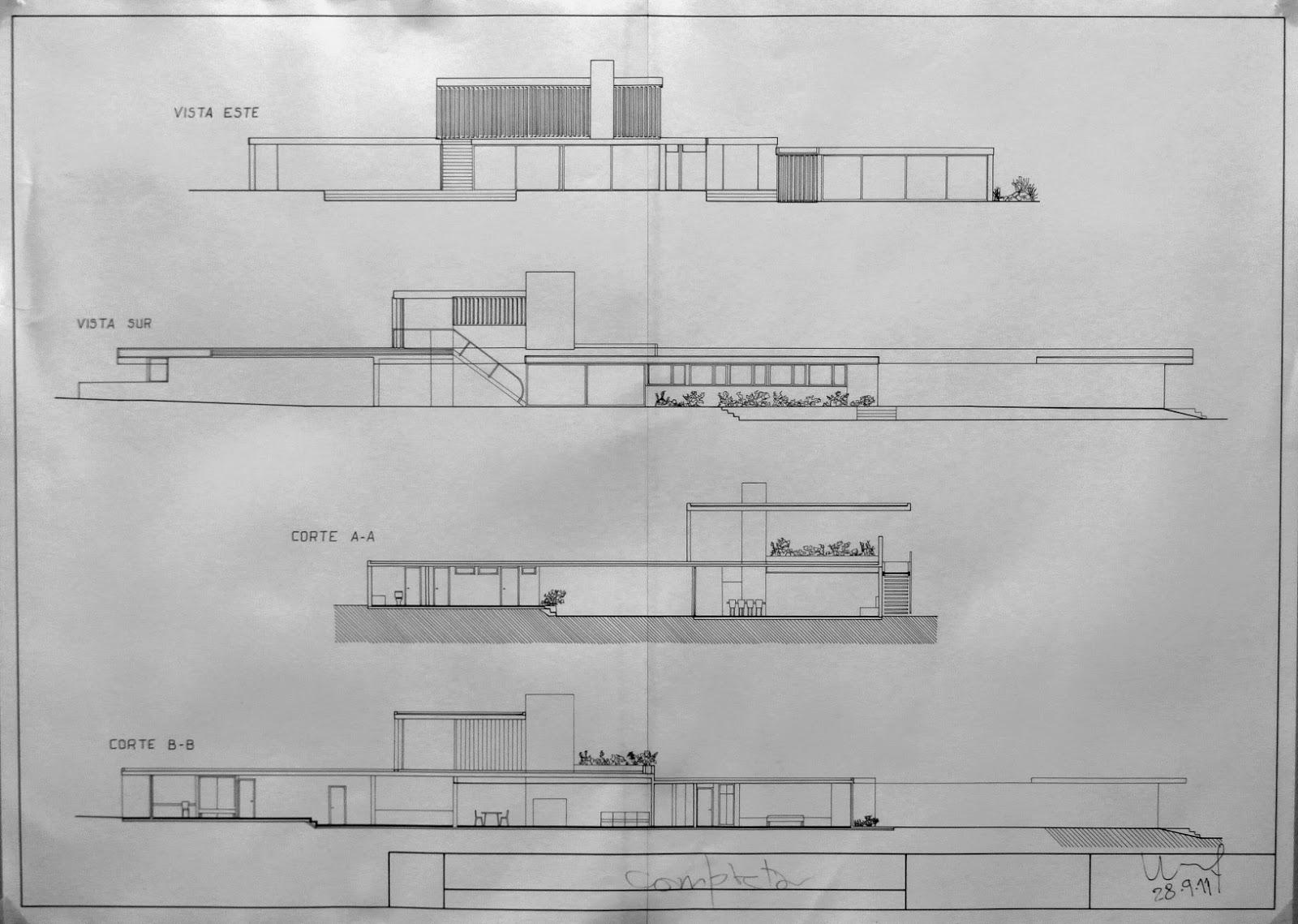 Elementos de dise o uno arquitectura plantas vistas y for Arquitectura nota de corte