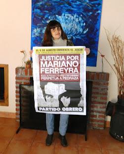 CAROLINA JUÁREZ, TRABAJADORA, TAMBIÉN PIDE JUSTICIA POR MARIANO