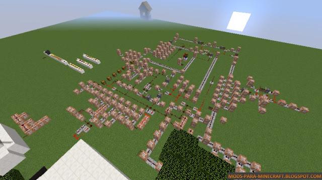 Todo el circuite de Redstone del mapa Order Up 1.8