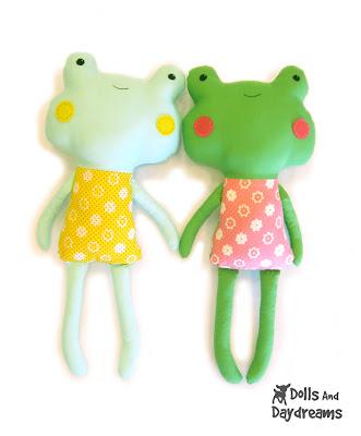 International Sewing Patterns, frog stuffed animal pattern