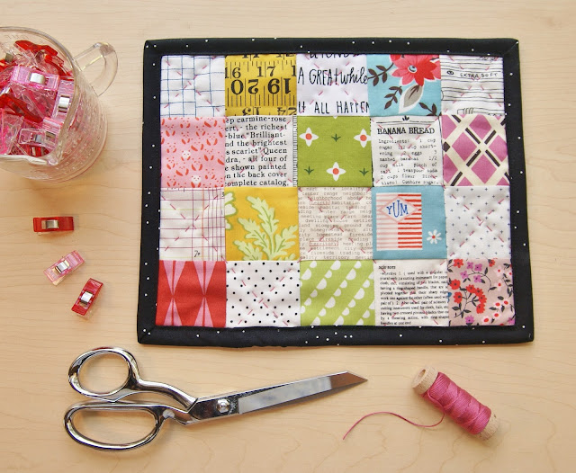 Patchwork Mug Rug by Heidi Staples for Fabric Mutt