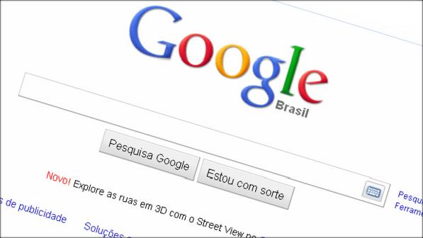 Página Inicial do site de pesquisas Google