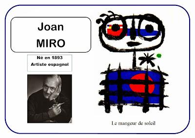 Joan Miro - Le mangeur de soleil en MS