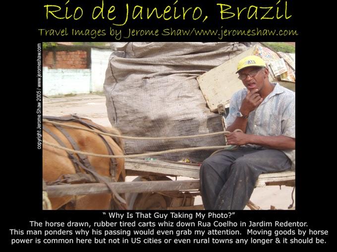 Horse Cart Jardim Redentor, Rio de Janeiro, Brazil .Copyright Jerome Shaw 2005 / www.JeromeShaw.com