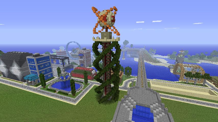 Minecraft Ideas Helix Sculpture Tylerk