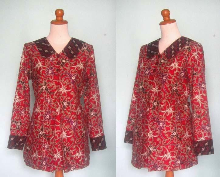 Gambar Model Baju Batik Muslim Kerja