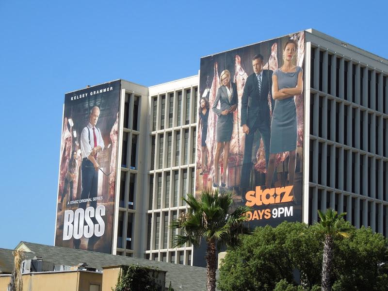 Boss season 2 TV billboards