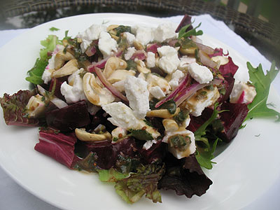 Beet and Feta Salad Dressed with Honey, Balsamic Vinegar and Oregano ...