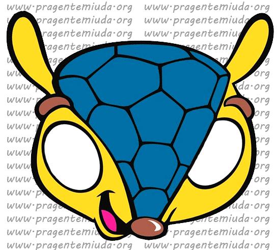 Copa 2014 - Máscaras do Fuleco para brincar