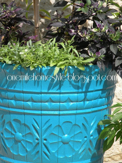 """New"" blue flower pot"