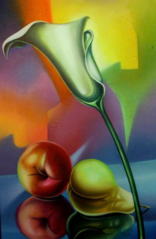 Im genes arte pinturas bodegon vertical moderno - Cuadros verticales modernos ...