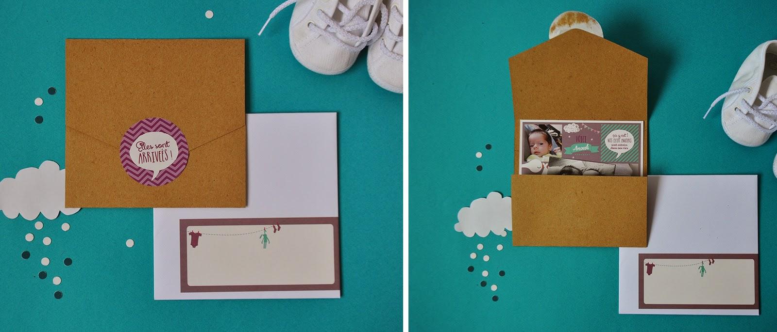 arr te de r ver faire part faire part de naissance anouck manon une nouvelle pochette. Black Bedroom Furniture Sets. Home Design Ideas