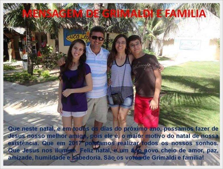 MENSAGEM DE GRIMALDI E FAMILIA