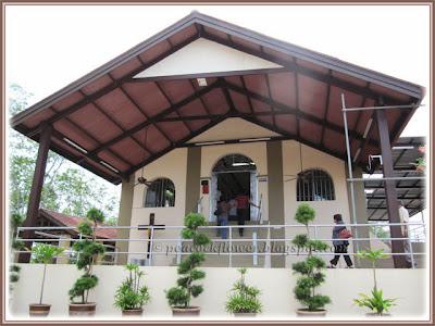Front view of Chapel of Santa Cruz, Malim in Malacca