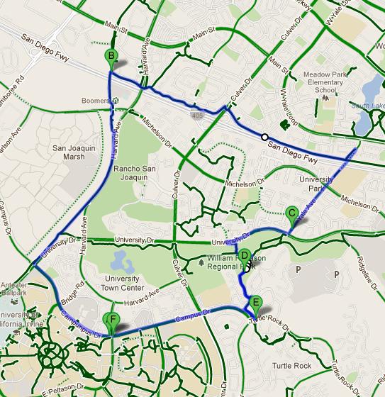 Writing Anything UC Irvine Bike Trails Explore Your World By Bike