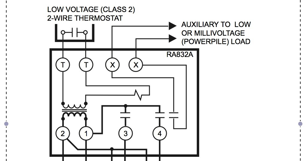 5 Wire Thermostat Diagram : Honeywell ra a wiring diagram thermostat