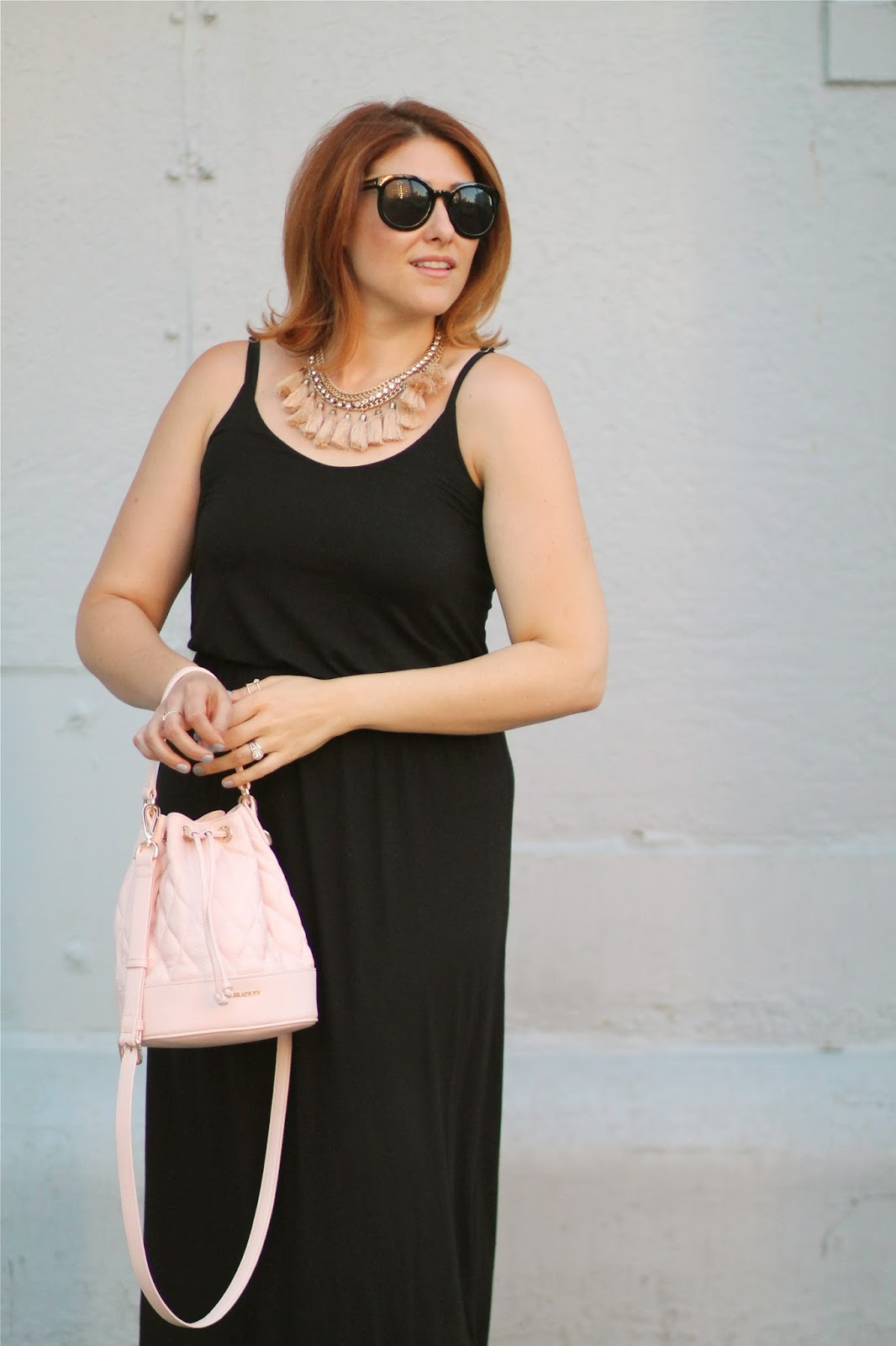 black, maxi, dress