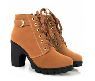 tan heeled boots banggood