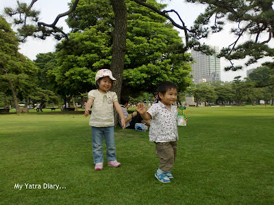 Kids playing in the Imperial Gardens, Tokyo