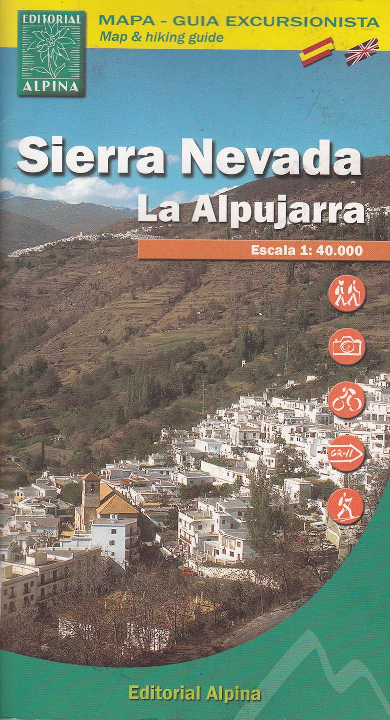 Sierra Nevada. La Alpujarra. Mapa - Guía Excursionista.
