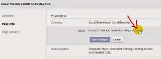 Klik notifikasi request change