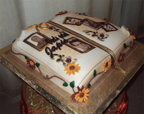 Delana s Cakes: 70th Book shaped cake