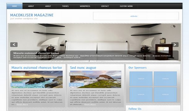 Gallery Blue Magazine Wordpress Theme Template
