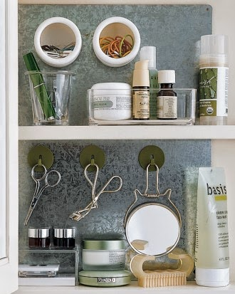 11 Ways to Organize with Magnets - for medicine cabinet:: OrganizingMadeFun.com