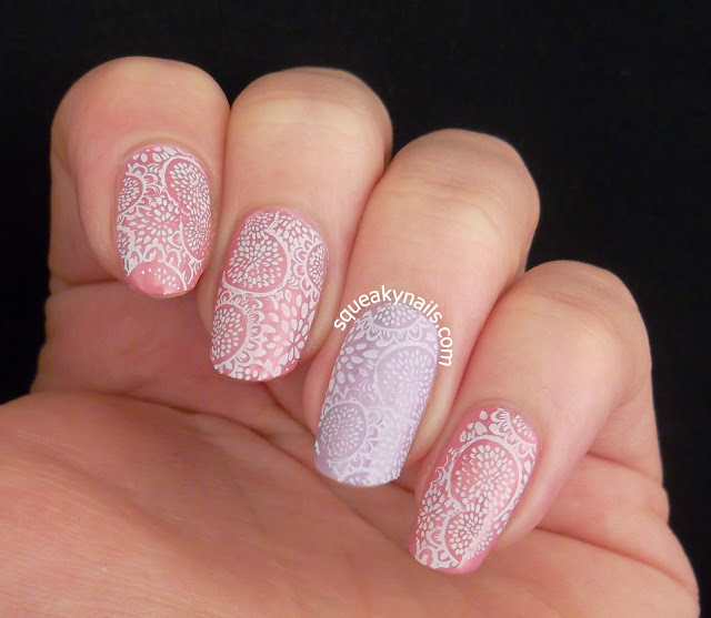 Stamped Floral | Squeaky Nails