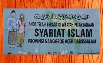 Wilayah pelaksanaan Syariat Islam