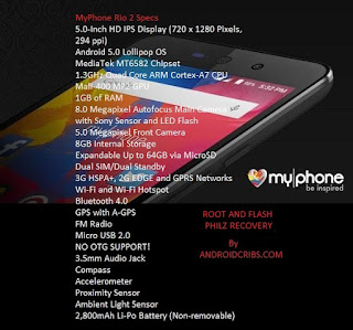 How to root MyPhone Rio 2 and Flash Philz Recovery