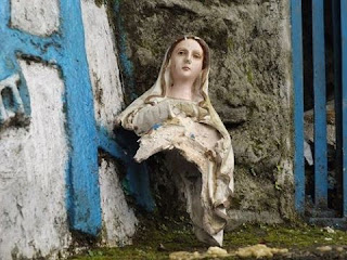 Mary's Grotto at St Mary's hill Kurseong vandalised