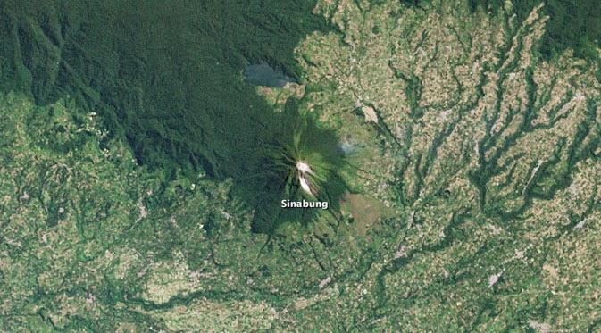 NASA Abadikan Foto Gunung Sinabung Saat `Tidur` 400 Tahun