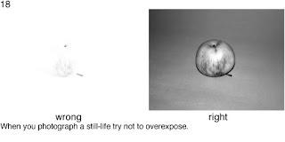 Совет 18. Во время съемки натюрморта или просто предметов, следите за экспозицией. Вспышка может сильно пересветить весь кадр.
