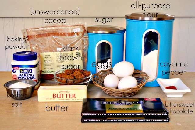Spicy Chocolate Cayenne Truffle Brownies l SimplyScratch.com