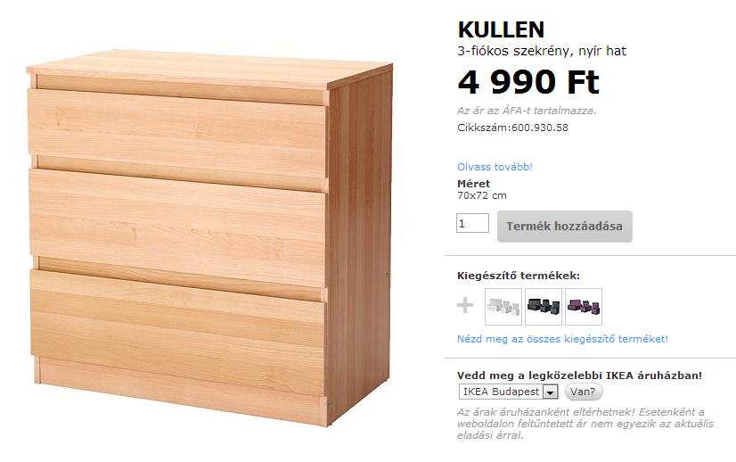 Ikea Kullen a legolcsóbb komód TÉRKULT u00daRA lakberendező Lakberendezési blog