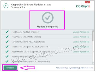 Kaspersky Software Update Completed