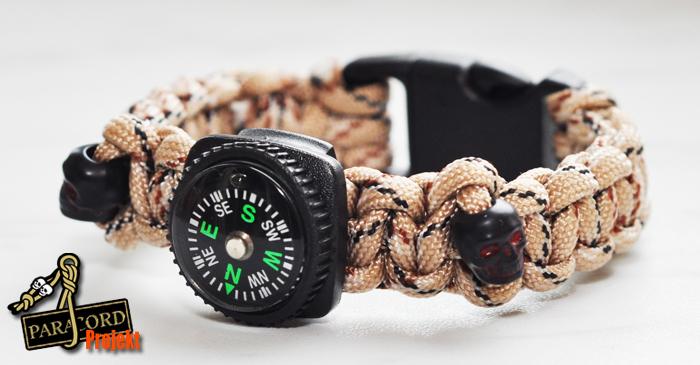 Bransoletka z paracordu z mini kompasem