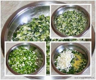 preparare umplutura placinta cu ceapa verde branza si oua, retete culinare, retete cu branza telemea de vaca, retete cu ceapa verde, retete cu oua, preparate culinare, cum se face placinta cu ceapa, preparare placinta,