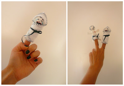 Handmade Thinger Puppets