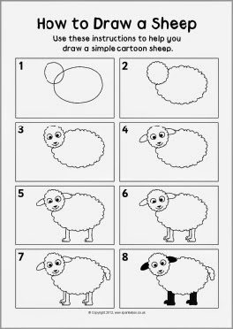 овца картинки нарисованные