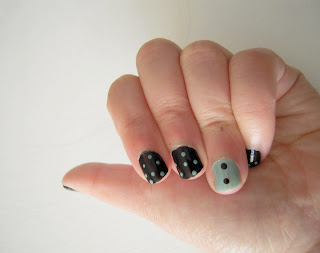 chanel nail polish nouvelle vague and black satin, dots tool bourjois
