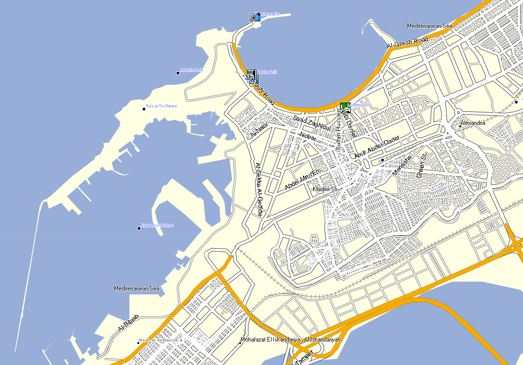 city of alexandria egypt map choice image