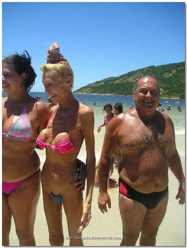 Bikini grandma in