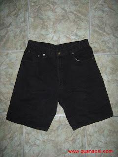 Quần short jean đen